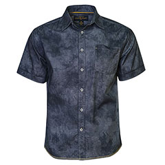 NIght Sky Hand Dyed Shirt Charcoal