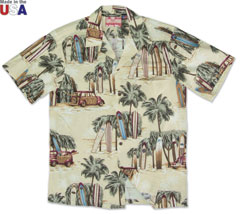 Woodies Print Shirt Beige