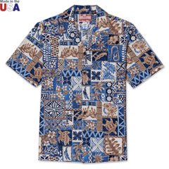 Paradise Block Print Shirt Blue