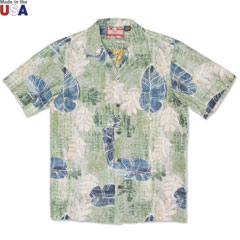 Hawaiian Jungle Print Shirt Green