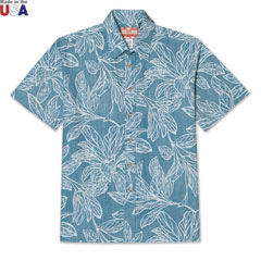 Pattern of Paradise Shirt Blue