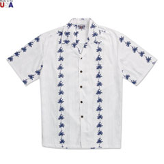 Whispering Palms Print Shirt White