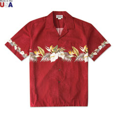 Island Bliss Print Shirt Red