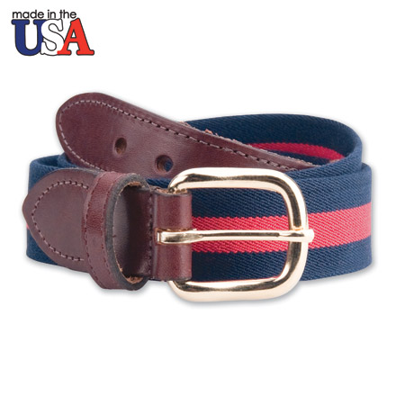 Leather Tab Cotton Belt 1