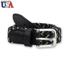 Leather Tab Braided Belt