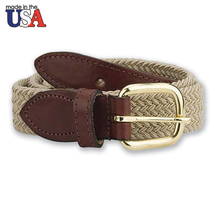 Leather Tab Braided Belt 1
