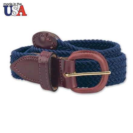 Adjustable Tab Braided Belt 1