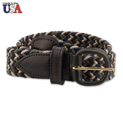 Adjustable Tab Braided Belt Multi-Colored