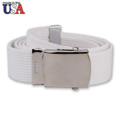 Cotton Belt with Silver Plated Buckle
