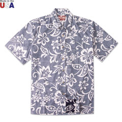 Personal Paradise Reverse Print Shirt Navy