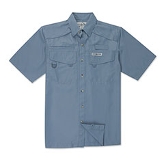 Seacliff Short Sleeve Shirt Bluestone
