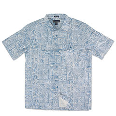 Fish Tribe Silk Shirt Indigo