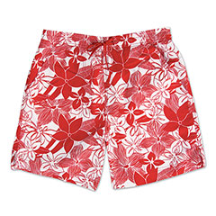 Sunset Island Swim Shorts Red