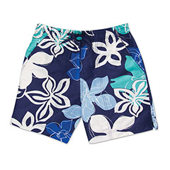 Maui Hibiscus Swim Shorts Navy