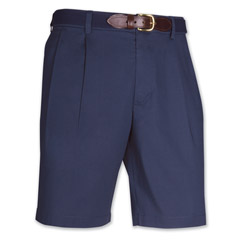 Port of Call Pleated Short Navy