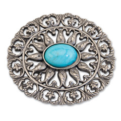 Oval Turquoise Buckle