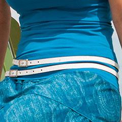 Double Wrap Skinny Belt